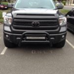 Toyota Tundra 22 Inch Bull Nose Light Bar Installed