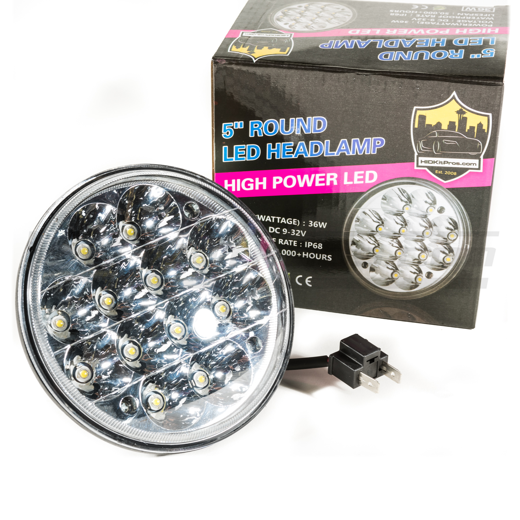 5 3/4u2033 Round Sealed Beam To LED Headlight Conversion