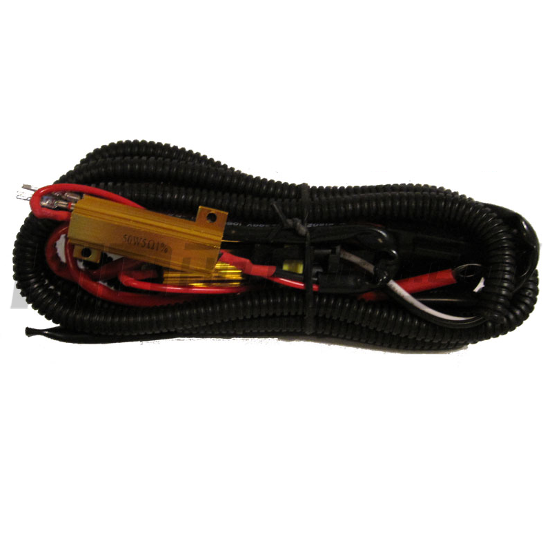 hid xenon plug and play resistor relay harness
