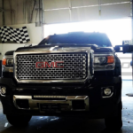 GMC Sierra Denali 2015 20 Inch Single Row CREE LED Light Bar in Lower Bumper