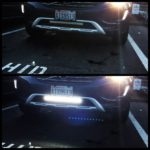 "Volvo XC60 with TOTRON 20"" Single Row CREE LED Light Bar Bumper Mounted"
