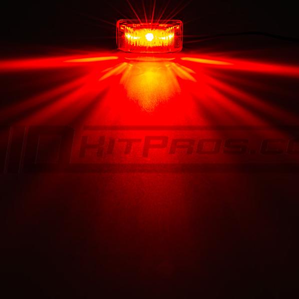 Red LED Truck Trailer Running Marker Lights