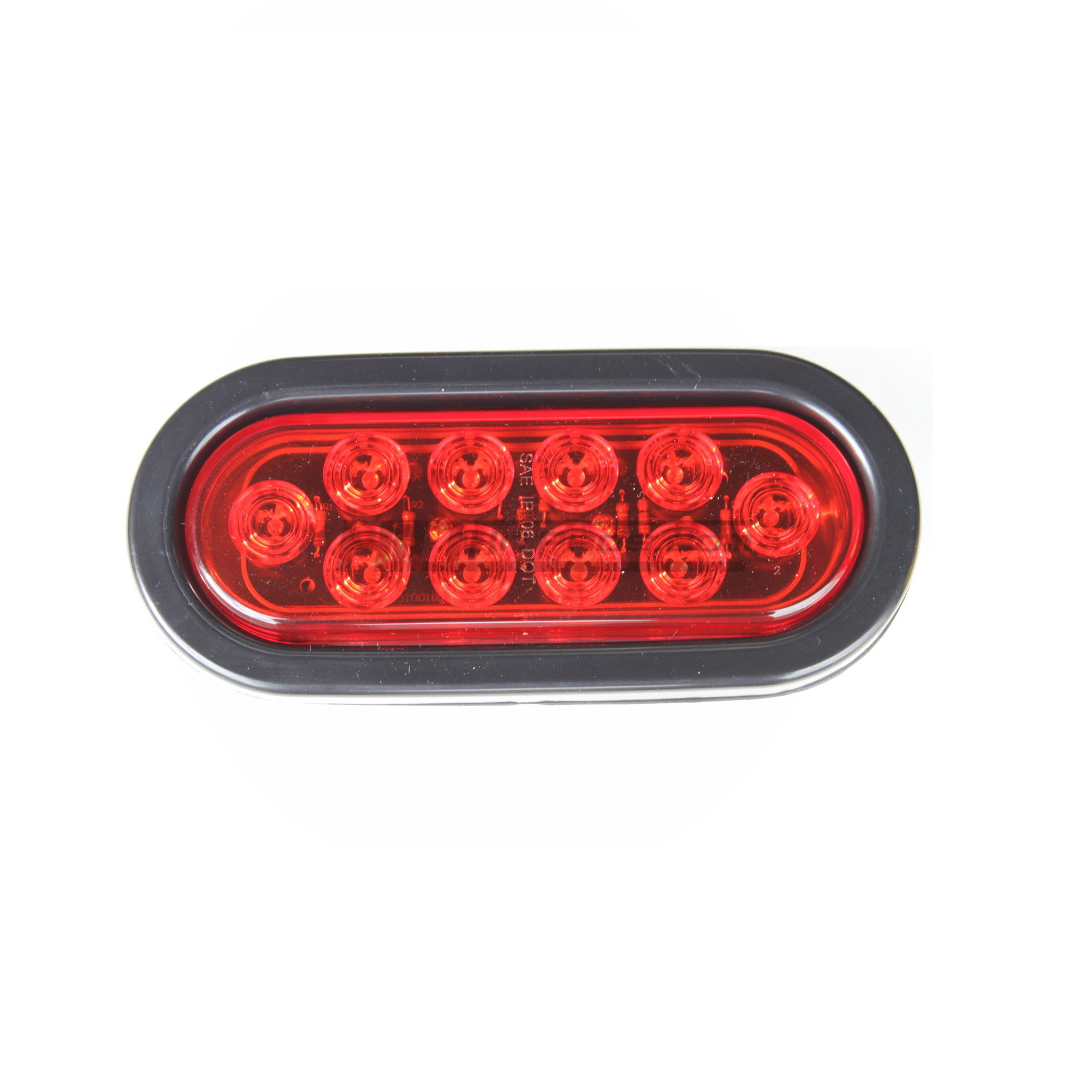 Red 6 Oval Truck Trailer Flush Led Stop Turn Signal Light Hid Quality Wire Kit 4 Pole Wiring For Pros