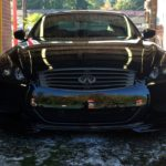Gunmetal and Gloss Black Housings on this Infiniti G37 Coupe Front