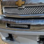 20 Inch Single Row CREE TOTRON Light Bar Mounted Chevrolet Silverado