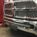 Dodge Ram with TOTRON 40 Inch Curved LED Light Bar in Lower Grille