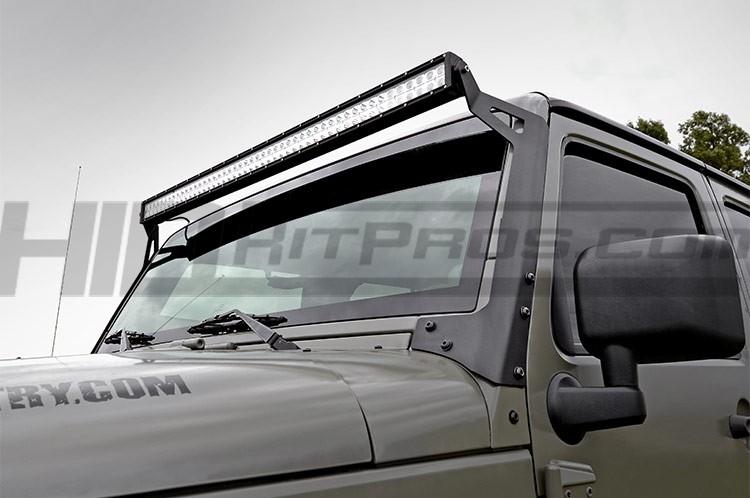 jeep jk upper windshield light bar mounting brackets 70504. Black Bedroom Furniture Sets. Home Design Ideas