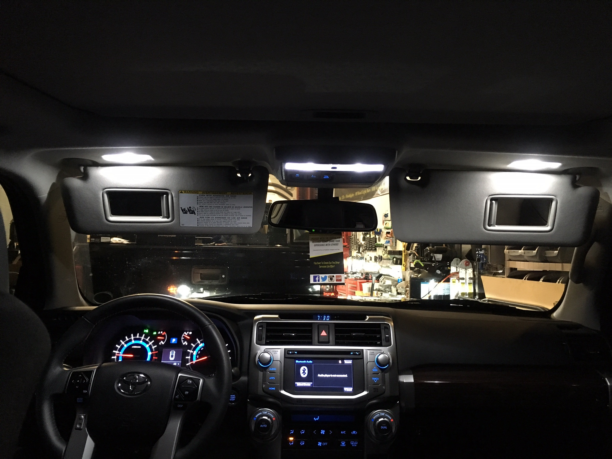 Captivating Toyota 4Runner Pure White LED Interior Kit