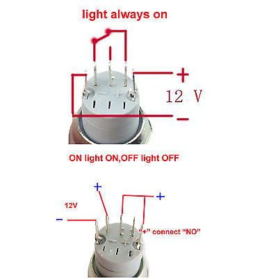 chrome led angel eye halo push button switch install guide