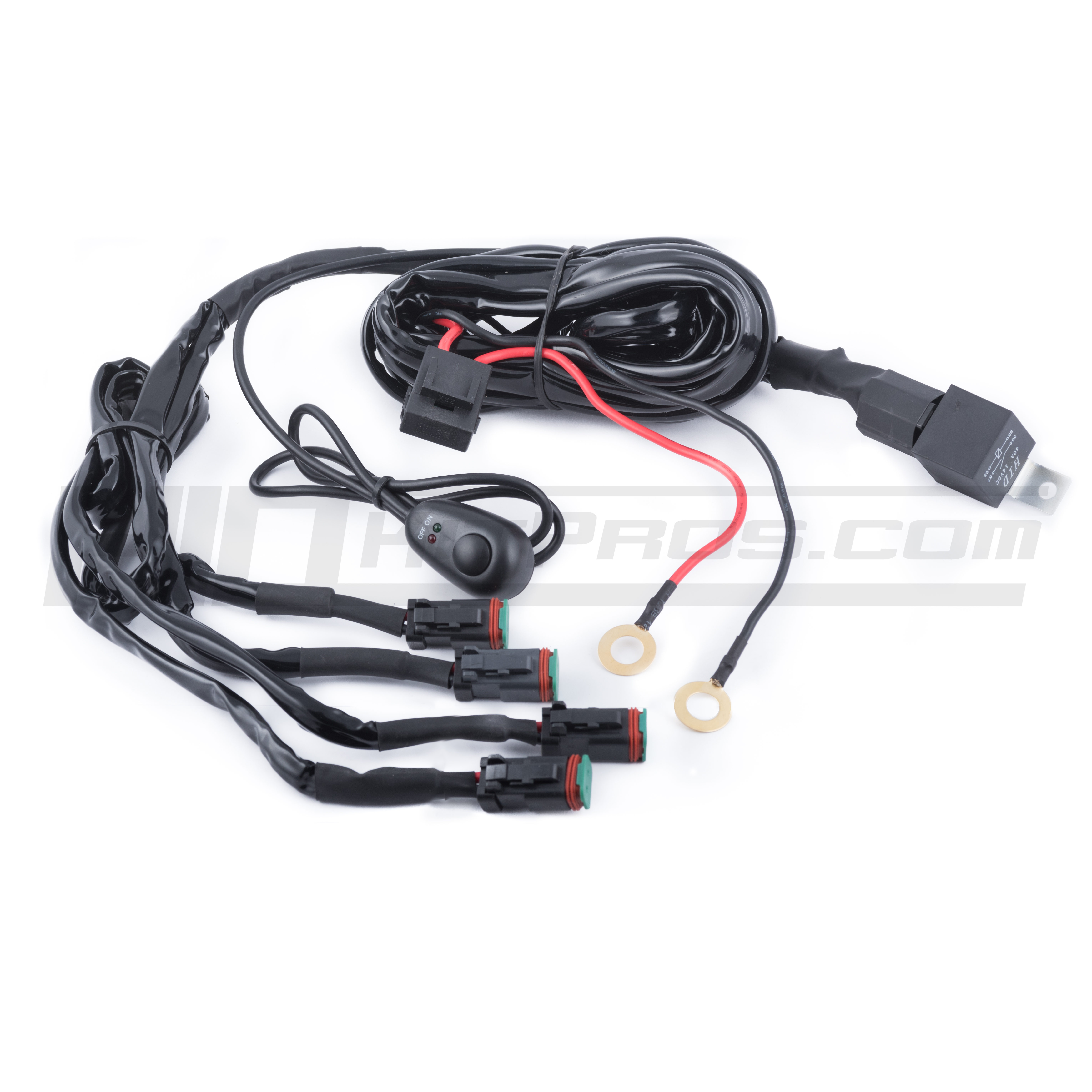 wiring harnesses pigtails relay harnesses totron quad output auxiliary wiring harness