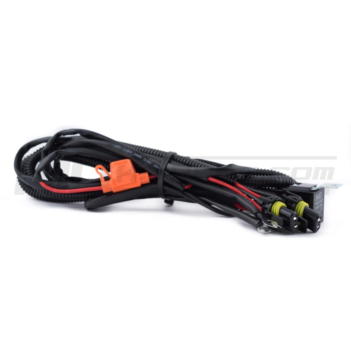 Universal Relay Harness Hid Led 35 55 Watt Wiring For Single Row Light Bar Xsurge Lights Hkp